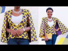 HOW TO SEW A CAPE BLAZER   KIM DAVE - YouTube T Shirt Sewing Pattern, Blazer Pattern, Sewing Patterns Free, Cape Pattern, No Sew Cape, Diy Cape, Dress Tutorials, Sewing Tutorials, Cape Tutorial