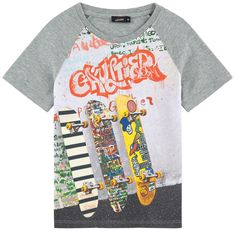 Cotton jersey  Straight fit chest Crew neck Raglan short sleeves Front print - $ 69