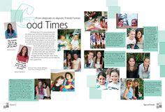 story ideas: we may have already had a spread like this before, but it is so cool to focus on students who have been best friends forever literally. it shows student bonds! Yearbook Shirts, Yearbook Pages, Yearbook Spreads, Yearbook Covers, Yearbook Layouts, Yearbook Design, Senior Yearbook Ideas, Senior Ads, Yearbook Theme