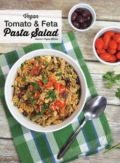 Vegan Tomato and Feta Pasta Salad