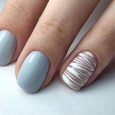 Pretty nails Nail Polish Style, Minimalist Nails, Nail Studio, Classy Nails, Beautiful Nail Art, Easy Nail Art, Creative Nails, Blue Nails, Wedding Nails