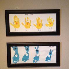 Easter - chick handprint & bunny footprint