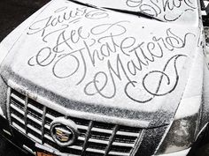 by Faust | New York, USA #snow #calligraphy #script #streetart