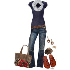 Pinner Inspired by tmlstyle on Polyvore featuring American Vintage, Lucky Brand, River Island and Liz Palacios