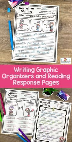 Reading and Writing Graphic Organizers LOWER Elementary Narrative Writing, Informational Writing, Opinion Writing, Writing Skills, 2nd Grade Classroom, Kindergarten Classroom, Classroom Ideas, Writing Graphic Organizers, Making Inferences
