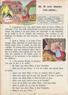 Manuels anciens: Tranchart, Levert, Rognoni, Bien lire et comprendre Cours élémentaire (1963) : grandes images French Learning Books, Teaching French, French Class, French Lessons, Learn French Fast, French Worksheets, English Story, French Grammar, Language