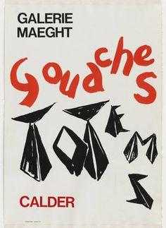 Poster Calder à la Galerie Maeght
