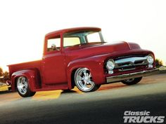 1956 Ford F100.  My dream project build.  Chop the roof-line a couple inches, and flare out the rear quarter panels