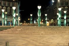 The Guardians in Warrington town centre, they're often called the 'skittles.'