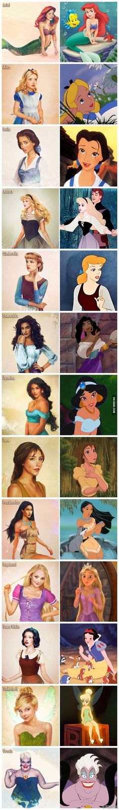 Realistic Disney Characters
