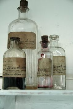 apothecary jars...we've got a thing for them...............