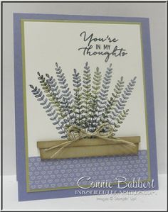Flowering Fields, free Sale-A-Bration stamp set, Stampin' Up!, #stampinup, created by Connie Babbert, www.inkspiredtreasures.com