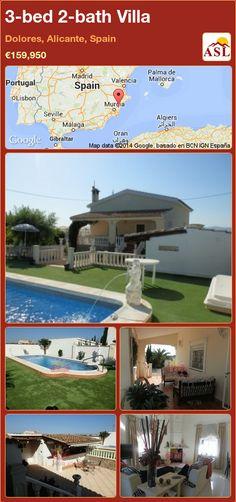 3-bed 2-bath Villa in Dolores, Alicante, Spain ►€159,950 #PropertyForSaleInSpain
