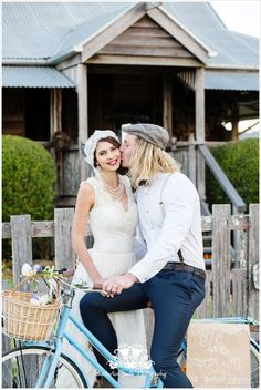 """The Notebook"" 1940's Styled Wedding Shoot Concept & Styling by Chesterton Smith Photography & Yandina Station * Hair By Nicola * Tasleema Nigh - Makeup Artist * Elizabeth de Varga Exclusive Fashions * Roger David * Underwoods Fine Jewellers Kawana * Stand Tall Design * Ideas in icing & thank you to our 'Allie & Noah' played by modern day lovebirds Lori & Frazer"
