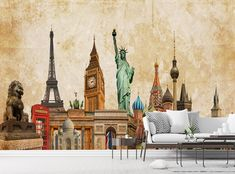 Adorn your wall with this stunning wallpaper mural. This high quality wallpaper is custom made to your dimensions. Easy to order and install. This mural will be printed on 130 gms paper. However we have other printing materials available: Self adhesive vinyl or peel & stick. Custom sizes also available. For a quote contact us with the exact measurements that you require at info@printsky.ie Wallpaper Decor, Photo Wallpaper, Murals For Kids, Stunning Wallpapers, High Quality Wallpapers, Adhesive Vinyl, Wall Murals, Printing, Wall Decor