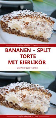 Bananen – Split – Torte mit Eierlikör