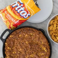 Recipe written by Eden Passante // @sugarandcharm Kisses Recipe, Tastemade Recipes, Ice Cream Scooper, Skillet Cookie, Corn Chips, Survival Food, Tray Bakes, Chocolate Chip Cookies, Cookie Dough