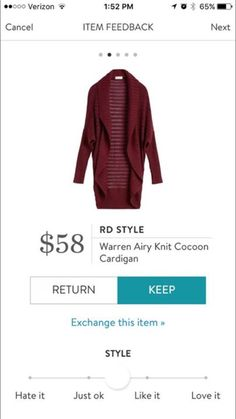I like the style of this sweater, but would prefer it in gray or black--something versatile/neutral.
