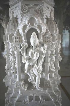 carving detail from the BAPS Swaminarayan Temple in Atlanta GA. by estela