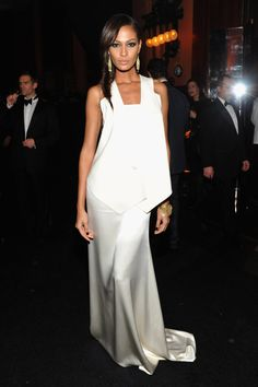 Joan smalls white dress