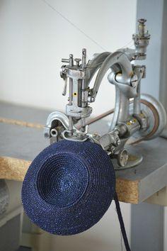 Oooooh Shiny pretty millinery sewing machine.