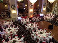 Grand Ballroom ready for a Christmas Wedding. Ballroom Wedding, Wedding Reception, Wedding Ideas, Anniversary Plans, Bethlehem, Mural Painting, Christmas Wedding, Save The Date, Perfect Wedding