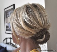 Updo for short hair! Def trying this! Check out Dieting Digest