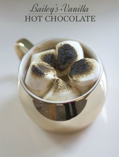 Bailey's Vanilla Cinnamon hot chocolate recipe on the blog today