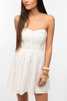 Payton strapless eyelet dress