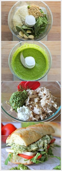 Lighter Chicken Salad with Pesto