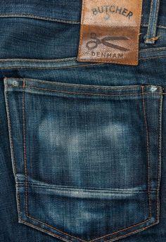 Túi sau- 100 Butcher Jeans and Diaries - 1 Year of Slaughtering Raw Denim, Blue Denim, Blue Jeans, Denim Men, Stylish Mens Fashion, Denim Fashion, Denham Jeans, Leather Label, Japanese Denim