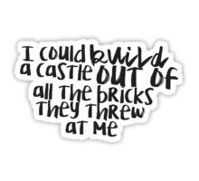 I could build a castle from Taylor Swift's New Romantics Sticker