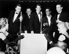 In The News:  The Rat Pack (Frank Sinatra, Dean Martin, Sammy Davis, Jr., Joey Bishop, Peter Lawford) - Performing at The Sands Hotel/Copa Room in Las Vegas