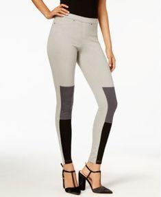 HUE® Women's Colorblocked Denim Leggings