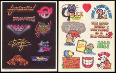 Hallmark Reward Sticker Sheets 3 - 1979, 80, 81 by JasonLiebig, via Flickr