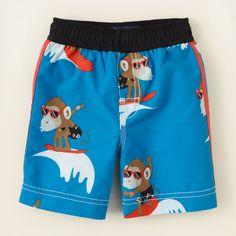 baby boy - swimwear - monkey swim trunks   Childrens Clothing   Kids Clothes   The Childrens Place