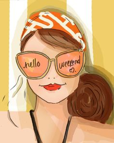 Image result for woman in sunglasses weekend quotes