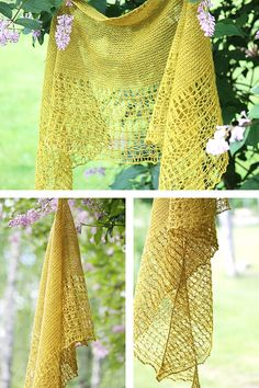 Ravelry: Rosewater shawl in BC Garn Semilla Extra Fino - knitting pattern by Janina Kallio.