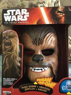 Star Wars The Force Awakens Chewbacca Electronic Mask Brand New RARE | eBay