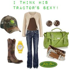 John Deere by heismygod on Polyvore featuring polyvore, fashion, style, Dorothy Perkins, MEK DNM, Old Gringo, Red Herring, John Deere, Tony Lama and Timex
