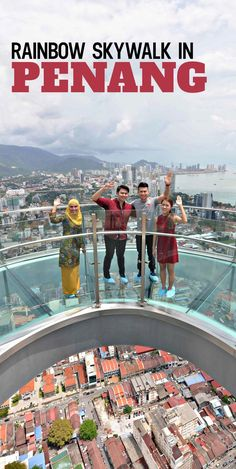 Test your fear of heights from 68 floors above ground in Penang, Malaysia at the newly opened Rainbow Skywalk. Malaysia Itinerary, Malaysia Travel Guide, Kuala Lumpur, George Town, Ipoh, Places To Travel, Travel Destinations, Places To Visit, Travel Tips