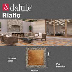 Rialto es un piso cerámico sumamente atractivo para decorar tus espacios con esencia natural, rústica y única.