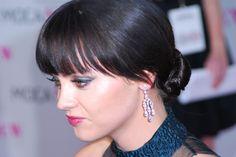 Christina Riccis low bun hairstyle