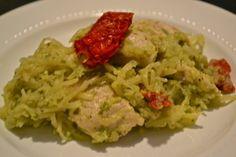 Pistachio Pesto Chicken Pasta #paleo #recipe