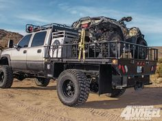 Rigged out for hog hunting Truck Flatbeds, Truck Camping, Dodge Trucks, Pickup Trucks, Truck Store, Truck Memes, 2002 Chevy Silverado, Chevy 2500hd, Custom Truck Beds