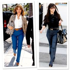 Stars' Favorite Denim Trends - High-Waist Jeans from #InStyle