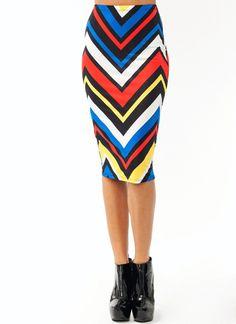 Primary Zigzag Midi Skirt $19.50