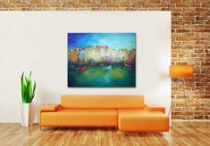 Abstract Landscape Oil Painting Large Painting Original