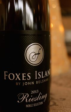 Icon Noble Riesling  125 bottles produced $55 ea (375ml) Available at www.foxes-island.co.nz