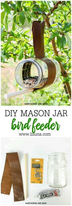 Mangeoire oiseaux Cool Plants, Garden Ideas, Easy Garden, Garden Projects, Homemade Bird Houses, Bird Houses Diy, Outdoor Gifts, Birdhouses, Diy Bird Feeder